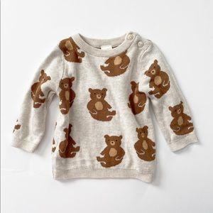 H&M Bear Print Sweater NWOT 4-6 Months